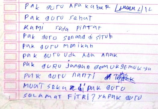 Surat untuk Pak Guru
